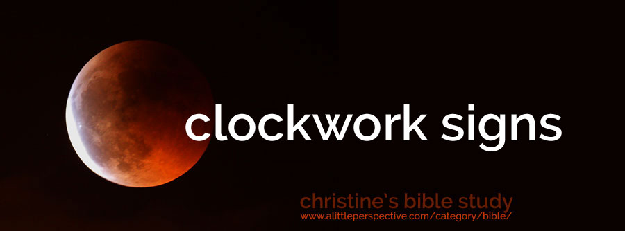 clockwork signs | christine's bible study at a little perspective