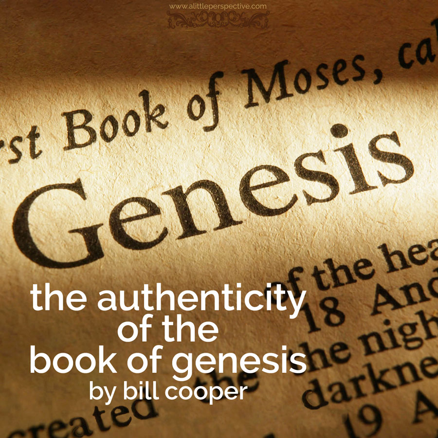 the authenticity of the book of genesis by bill cooper