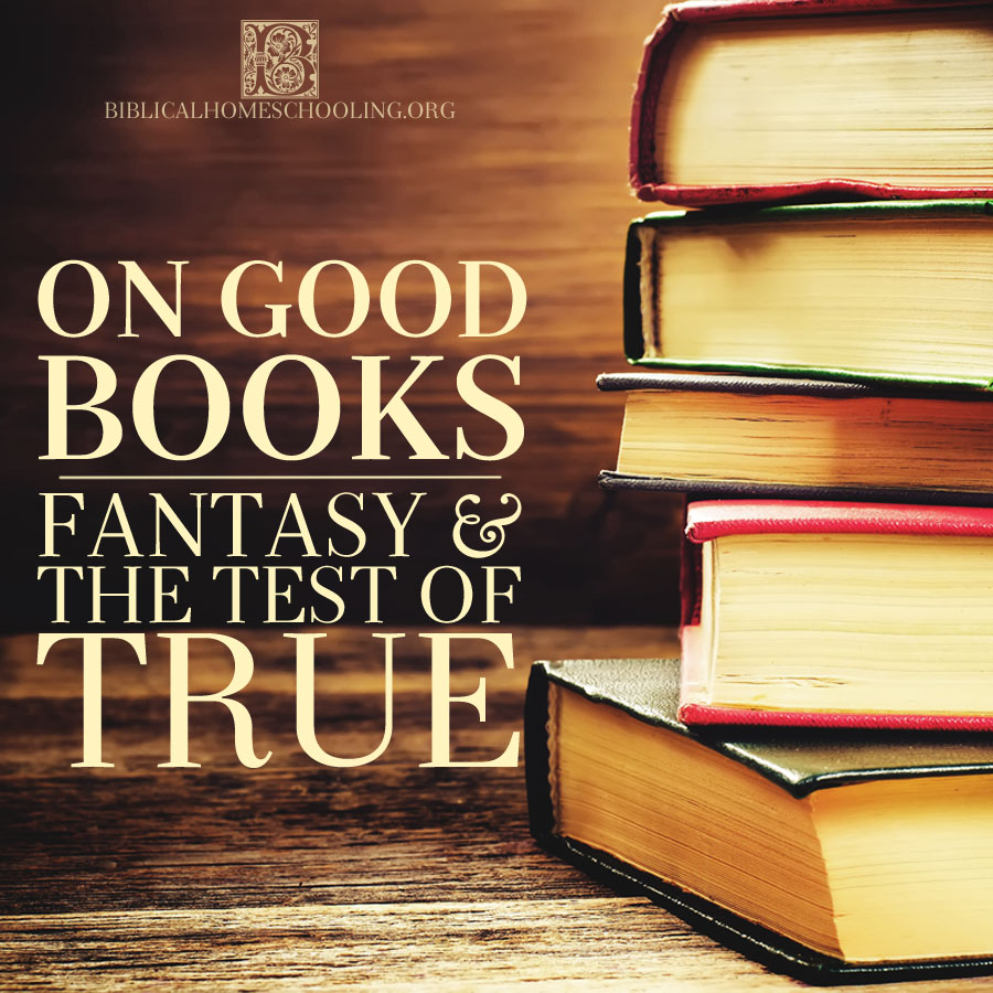 On Good Books: Fantasy and the Test of True | biblicalhomeschooling.org