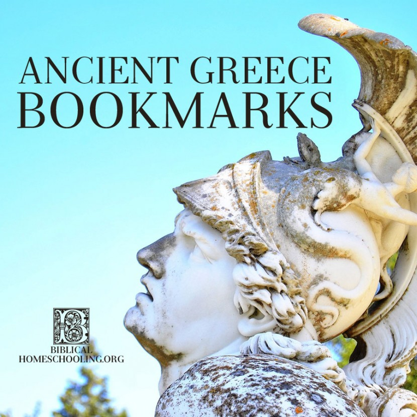 Ancient Greece Bookmarks | biblicalhomeschooling.org