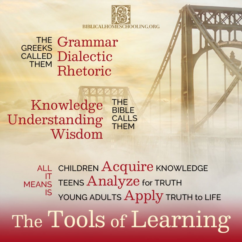 The Tools of Learning | biblicalhomeschooling.org